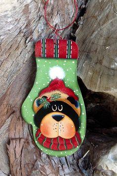 Ornamento de lana invierno oso