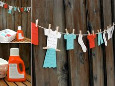 Dirty Laundry... fun bridal shower game idea