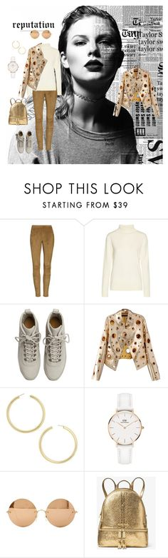 """""""Toutountzidou Barbara"""" by barb13nd ❤ liked on Polyvore featuring HUE, The Row, Fear of God, WithChic, BaubleBar, Daniel Wellington, Victoria Beckham and MICHAEL Michael Kors"""