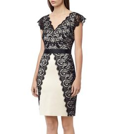 Reiss Ton New Arrivals- Classy black and white lace dress