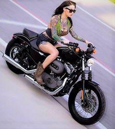Harley Davidson News – Harley Davidson Bike Pics Biker T-shirts, Lady Biker, Biker Chick, Biker Girl, Harley Davidson Sportster 883, Harley Davidson Chopper, Hot Bikes, Sexy, Trends