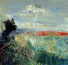 transistoradio: Joan Eardley (1921-1963), Field of Barley by the Sea (n.d.), oil on board, 110.5 x 106.5 cm. Via BBC.