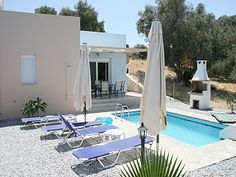 Loutra Luxury Villa with private pool in Crete (Rethymnon), terrace and sea view