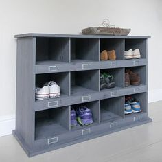 Chedworth Hallway 12 Shoe Locker in Charcoal | The Farthing
