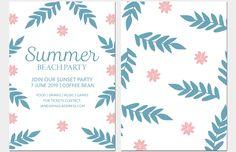 Invitation graphic design template