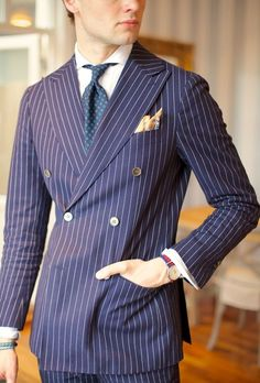 ~via Zsa Zsa Bellagio Suitsupply suit, Belisario MTM shirt, Drake's ancient madder tie and Berg & Berg ps. Sharp Dressed Man, Well Dressed Men, Suits You Sir, Pinstripe Suit, Preppy Style, Men's Style, Gentleman Style, Mens Clothing Styles, Men's Clothing