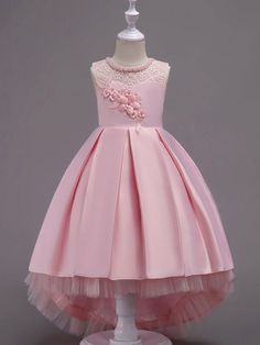 Flower Girl Dresses Ball Gowns Kids Pageant Dress Mint Green Lace Satin Princess Party Dresses Little Girls Kids Pageant Dresses, Girls Dresses Online, Girls Party Dress, Ball Dresses, Baby Dress, Wrap Dresses, Dresses Uk, Ball Gowns, Fashion Dresses