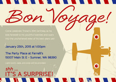Bon Voyage 20's - Welcome to 30! | CatchMyParty.com