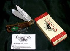 "Camillus #10 USA Knife American Wildlife ""Antelope"" Sculptured Pewter Cast W/Box @ ditwtexas.webstoreplace.com"