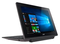 "Acer Aspire Switch 10 E - Tablet de 10.1"" (WiFi, Bluetooth, 64 GB de eMMC, 4 GB de RAM, Windows 10 Home), color shark grey"