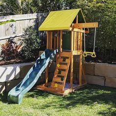 Backyard Fort, Kids Backyard Playground, Backyard For Kids, Garden Climbing Frames, Wooden Climbing Frame, Kids Play Spaces, Kids Play Area, Kids Garden Toys, Kid Garden