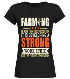 Farming Is Developing A Strong Work Ethic T Shirt T Shirt birthday gift mug  Funny farming T-shirt, Best farming T-shirt