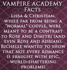 Vampire Academy. I love Lissa and Christian AND Rose and Dimitri.