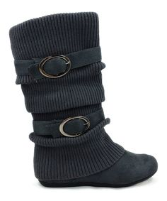 Look at this Ositos Shoes Gray Daysi Boot on #zulily today!