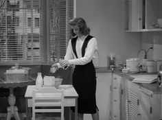 Katharine Hepburn in Woman of the Year. Best scene in the movie, and I love this dress!