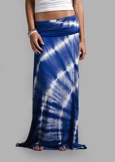 Royal Blue Tye Dye Maxi