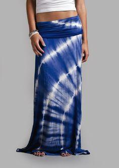 Royal Blue Tye Dye Maxi