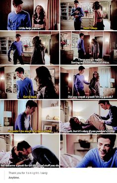 Barry's trying to be the gentleman and all, and Caitlin's making it so bloody difficult for him, isn't she?