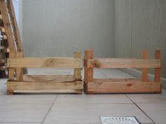 Eu fui corajosa!!! Fiz criado mudo para o meu quarto com caixotes de madeira que estavam horrorosos. Ninguém dava nada por eles, sujos e mui...
