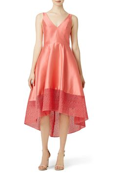 Rent Coral Spiderweb Dress by ML Monique Lhuillier for $75 - $100 only at Rent the Runway.