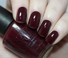 Opi vampire state building fashion nails, dark red nails at Cute Nails, Pretty Nails, Fall Nail Colors, Halloween Nail Colors, Opi Colors, Color Nails, Halloween Nails, Opi Gel Nail Colors, Manicure E Pedicure
