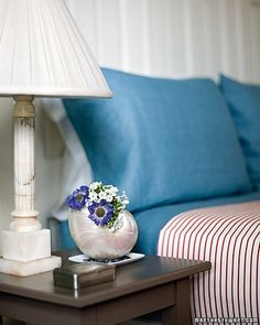 The delicate shape of collected shells and a bag of sand can be more than a reminder of your summer getaway. Cleverly used, they can have many beautiful and practical purposes around the home.A wide-mouthed, spiral nautilus shell can double as a pearlescent vase for bedroom bouquets.