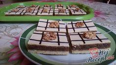 Jeden z oblíbených koláčů mého manžela. Zdobila jsem cukrářským sáčkem čokoládovou polevou a ještě jsem zdobila celou polovinou vlašského oříšku. Autor: Mineralka