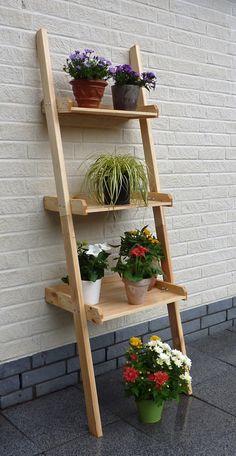 Holz-Blumentreppe PROMADINO «Kirsten» Blumenleiter Dekoregal | Holz Angebot