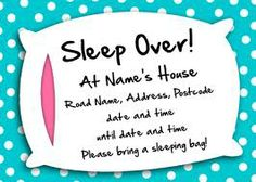sleep over party invites - Google Search