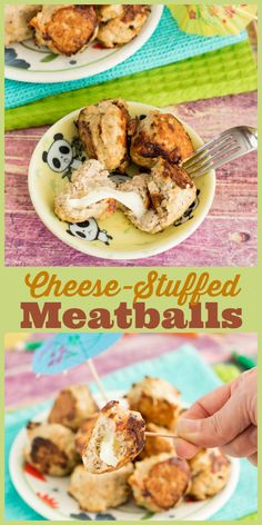 These easy cheesy meatballs are great to serve at parties or throw in marinara sauce for spaghetti!
