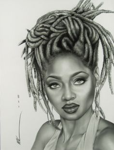 """Fine art prints and gifts featuring the urban ethnic art of Kevin """"WAK"""" Williams, one of the most collected and widely recognized artists in the country. Natural Hair Art, Pelo Natural, Natural Hair Styles, Natural Beauty, Black Girl Art, Black Women Art, African American Art, African Art, Art Afro"""