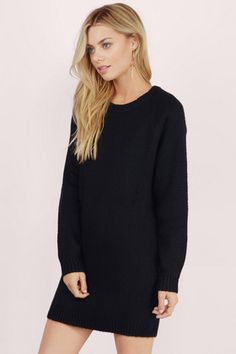 Comfy Cozy Sweater Dress.  Sign up today to discover Trendy Dresses! Huge selection with new styles added each and every day! At Tobi.com you'll find something special every day of the week! 50% off on the first order! Go To http://www.tobi.com