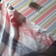 Making another Hemlock, just about to see the sleeves #grainlinestudio #hemlocktee #sewing #stripes9595catherinehemlocktee,grainlinestudio,sewing,stripes