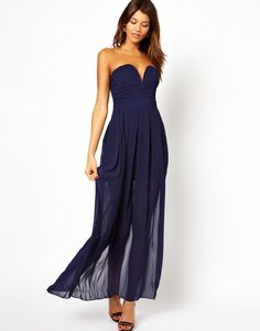 Pin for Later: Your Go-To Guide For Prom Dress Shopping With Your Daughter Hourglass A slip underlay keeps ASOS's lightweight gown ($51, originally $85) from violating any dress codes. Complete the look with a statement necklace.