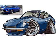 Blue 240Z Toon