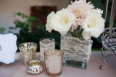 cute idea for the vases