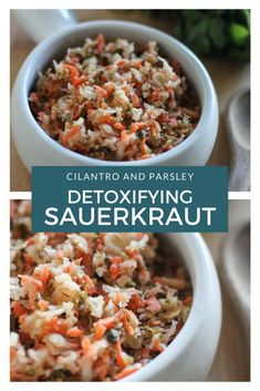 This detoxifying sauerkraut recipe features cilantro and parsley, both known for the detoxifying effects. Plus, sauerkraut is a detoxifying food in itself. Make this easy homemade sauerkraut recipe and amp up your detoxification this year!
