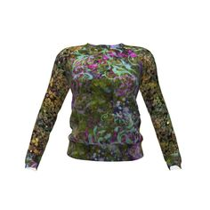 Hey June Handmade Lane Raglan made with Spoonflower designs on Sprout Patterns. A warm dark green long sleeved shirt, perfect for Fall and bundling up weather