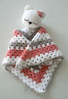 blanketcute security birthday blanket shower safety lovey baby gift bear new mom Security blanket Baby Shower Gift New Mom Shower Gift Baby Birthday Gift Bear Safety Blanket You can find New moms and more on our website Crochet Security Blanket, Crochet Lovey, Baby Security Blanket, Crochet Gifts, Crochet Blanket Patterns, Baby Blanket Crochet, Crochet Toys, Free Crochet, Bear Blanket