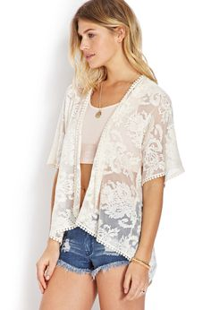 Ethereal Lace Cardigan | FOREVER21 - 2000069908