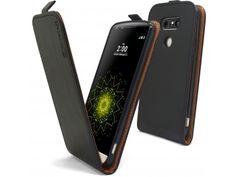 Etui Italia Flip LG G5 Cuir Véritable Bovin Noir - 11,90 €