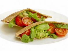 Chicken and Arugula Pita Pockets #myplate #protein #veggies #grain