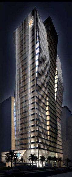 TNI Towers, Dubai,UAE by RMJM Architects