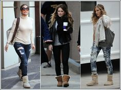 Celebrity in love with #UGG boots :-)