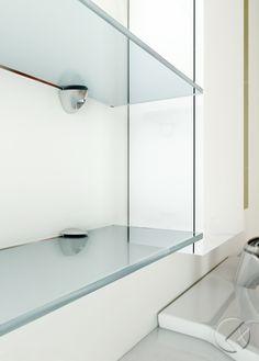 #COBRONE #GlassShelfSupport Glass Shelf Supports, Glass Shelves, Minimalism, Mirror, Furniture, Design, Home Decor, Homemade Home Decor, Decoration Home
