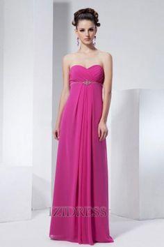 Sheath/Column Strapless Chiffon Bridesmaids Dress - IZIDRESS.com