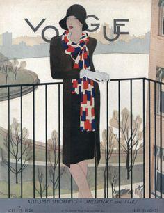 Vintage Vogue cover, September 15, 1928