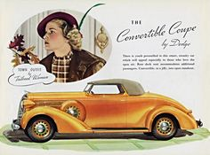 Dodge Convertible Coupe 1936 | Mad Men Art | Vintage Ad Art Collection