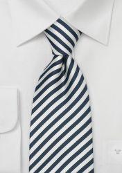 Gestreifte Krawatte in nachtblau/weiß günstig kaufen