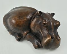 Bronze Hippo Baby #sculpture #art